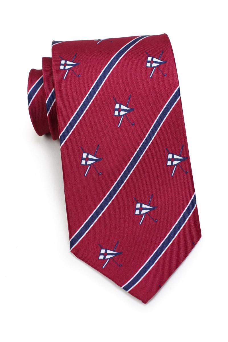 yacht club burgee silk ties