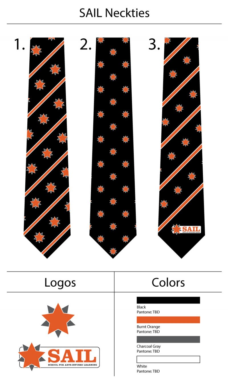 custom logo mens neck ties