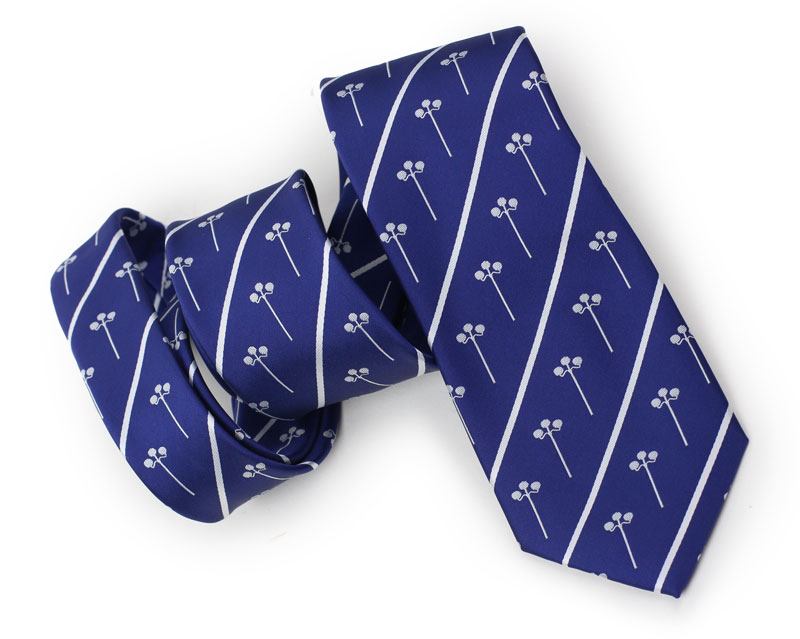 custom royal blue logo necktie