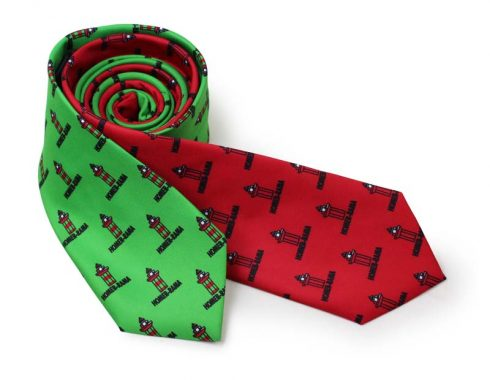custom printed neckties green red