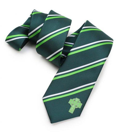 custom logo striped neckties forest green