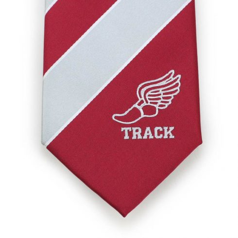 track and field high school logo neckties