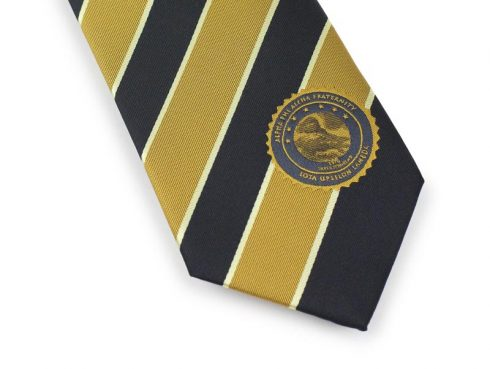 Custom Gold and Black Logo Ties